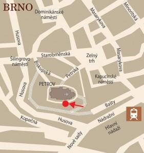 Mapa areálu Petrov